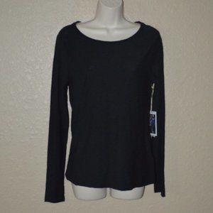 NWT XS S M Nation LTD Black Long Sleeve T-Shirt